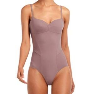 Taupe Odette Bodysuit One Piece in Galet